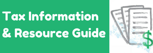 Tax Information and Resource Guide Banner