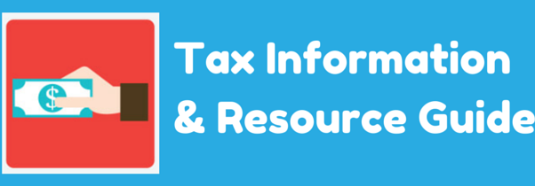 Tax info resource guide banner blue