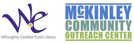 Logos of Willoughby-Eastlake Library & the McKinley Community Center
