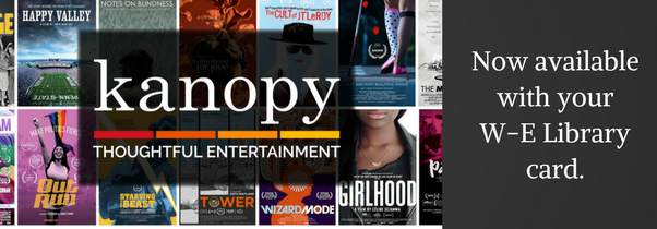 Kanopy Now Available Web Banner