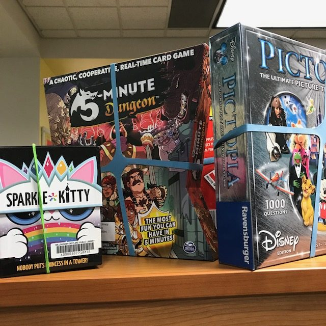 Board Games on Display at the Willoughby Library
