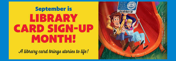September Library Card Sign-Up Month 2019