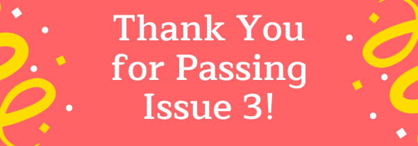Issue 3 Thank You