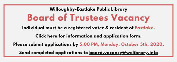 Board of Trustees Vacancy-updated