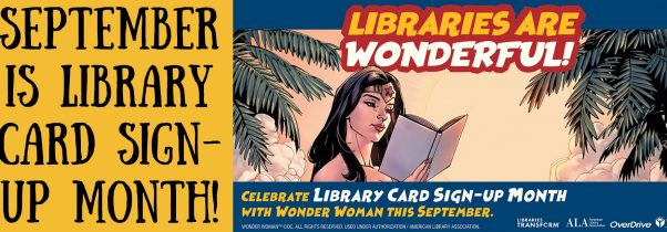 Library Card Sign Up Month Banner